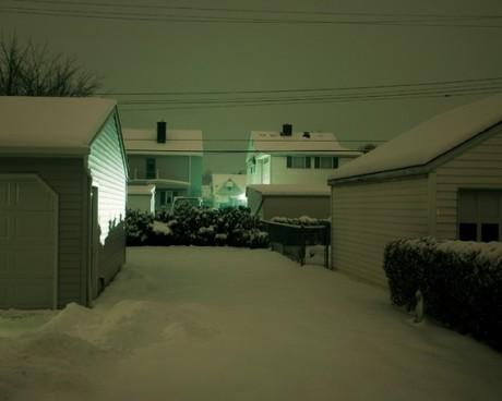 Backyard At Night