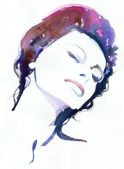 Watercolor Fashion Illustration Print - Sophia Loren
